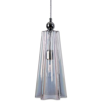 Uttermost Beckley Mini Pendant Lamp with Fluted Glass Shade