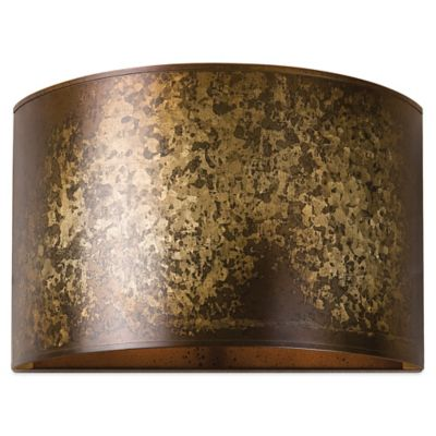 Uttermost Wolcott Wall Sconce in Galvanized Gold
