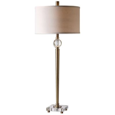 Uttermost Mesita Buffet Lamp in Brushed Brass