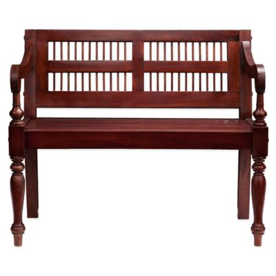 Southern Enterprises Cheyenne Classic Bench in Mahogany