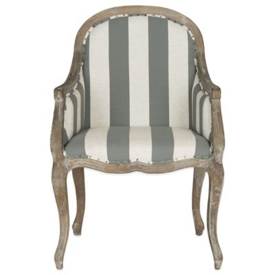Safavieh Esther Armchair in Grey/White