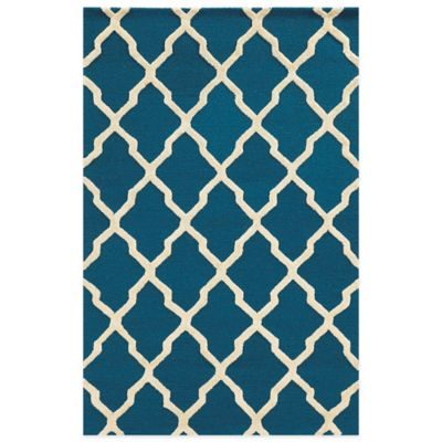 Rizzy Home Eden Harbor Diamonds 3-Foot x 5-Foot Area Rug in Blue