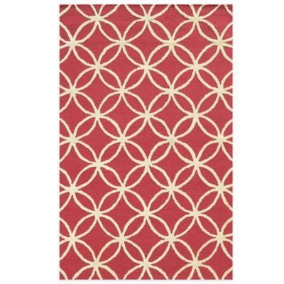 Rizzy Home Eden Harbor Circle Link 8-Foot x 10-Foot Area Rug in Pink