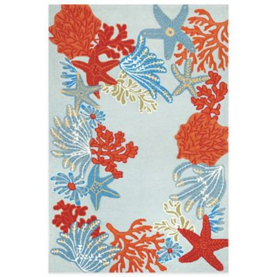 Trans-Ocean Ravella Ocean Scene 2-Foot x 3-Foot Indoor/Outdoor Area Rug in Blue