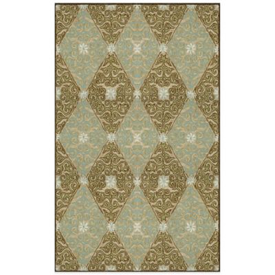 Trans-Ocean Ravella Lakai Diamond 3-Foot 6-Inch x 5-Foot 6-Inch Indoor/Outdoor Rug in Blue