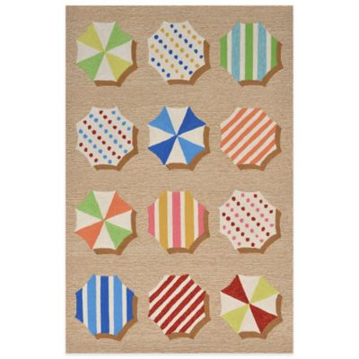 Trans-Ocean Ravella Fun Umbrellas 5-Foot x 7-Foot Indoor/Outdoor Rug