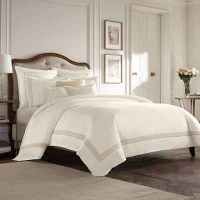 Wamsutta® Collection Luxury Italian-Made Positano Standard Pillow Sham in Ivory/Taupe