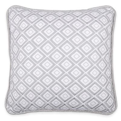 Wamsutta® Collection Lucca Square Throw Pillow in White/Grey