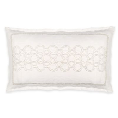 Wamsutta® Collection Positano Oblong Throw Pillow in Ivory
