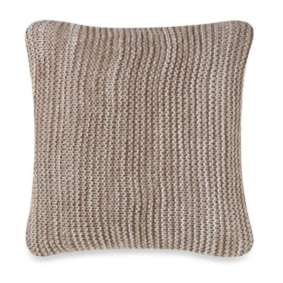 Kenneth Cole Reaction Home Structure Mélange Knit Square Throw Pillow in Taupe