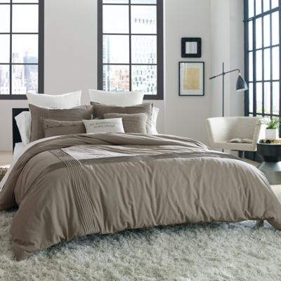 Kenneth Cole Reaction Home Structure Twin Duvet Cover in Silver