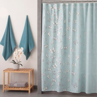 Under the Canopy® Metamorphosis Organic Shower Curtain in Blue