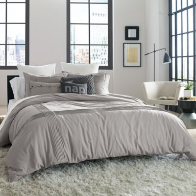 Kenneth Cole Reaction Home Structure King Duvet Cover in Silver