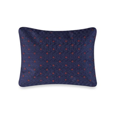 The Tallulah Collection by Kevin O'Brien Floral and Ferns Breakfast Throw Pillow in Indigo