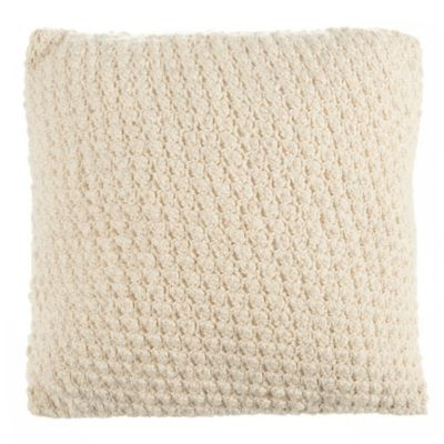 Beekman 1802 Sangerfield Crochet Square Throw Pillow in Natural