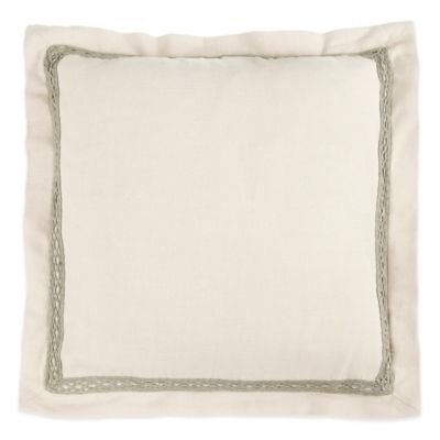 Beekman 1802 Sangerfield Applique Square Throw Pillow in Natural