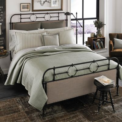 Beekman 1802 Sangerfield Squares Queen Quilt in Granite