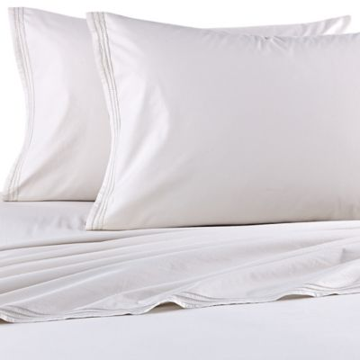 Beekman 1802 Sangerfield King Fitted Sheet in Silver Birch