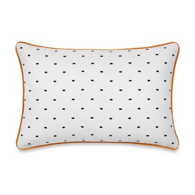 Real Simple® Luna Embroidered Oblong Throw Pillow in Navy