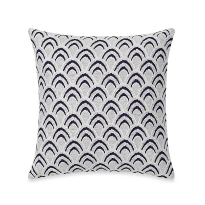Real Simple® Luna Embroidered Square Throw Pillow in Navy