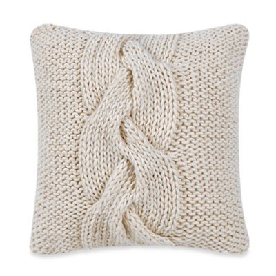 Real Simple® Luna Knit Square Throw Pillow in Cream