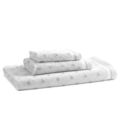 Kassatex Bambini Polka Dot Hand Towel in Grey