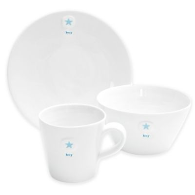 Keith Brymer Jones Baby Boy Plate, Bowl and Mug Set
