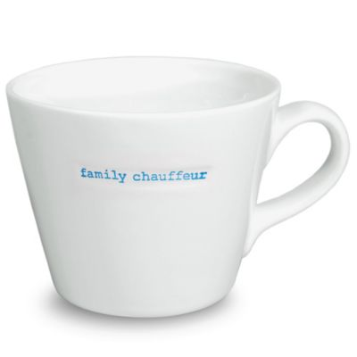 "Keith Brymer Jones Word Range ""family chauffeur"" Bucket Mug"