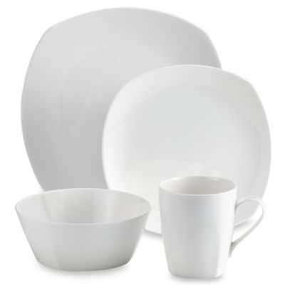 Tabletops Unlimited® Quattro Bone China 16-Piece Dinnerware Set