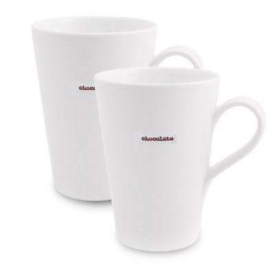 "Keith Brymer Jones Word Range ""Chocolate"" Latte Mugs (Set of 2)"