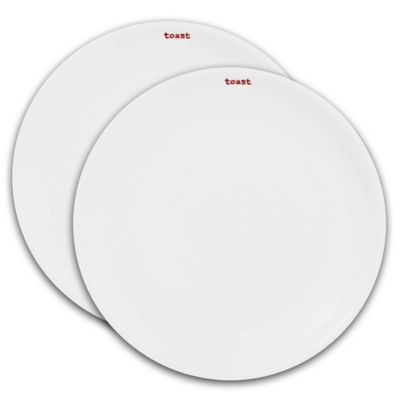 "Keith Brymer Jones Word Range ""Toast"" Plates (Set of 2)"