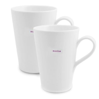 "Keith Brymer Jones Word Range ""Mocha"" Latte Mugs (Set of 2)"