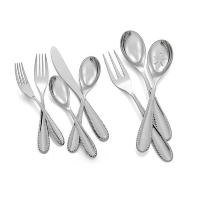 Nambe Maeve 45-Piece Flatware Set in Stainless Steel