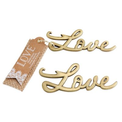 Kate Aspen® Love Bottle Opener in Antique Gold