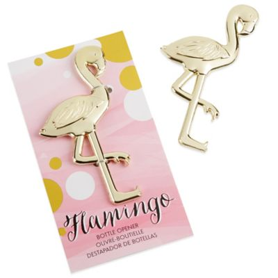 Kate Aspen® Fancy and Feathered Flamingo Bottle Opener