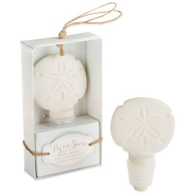 Kate Aspen® By the Shore Ceramic Sand Dollar Bottle Stopper
