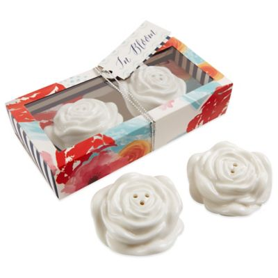 Kate Aspen® In Bloom Ceramic Flower Salt and Pepper Shakers