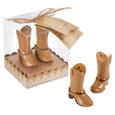 Kate Aspen® Just Hitched Ceramic Cowboy Boot Salt and Pepper Shakers