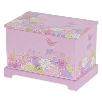 Mele & Co. Piper Girl's Musical Ballerina Jewelry Box in Pink