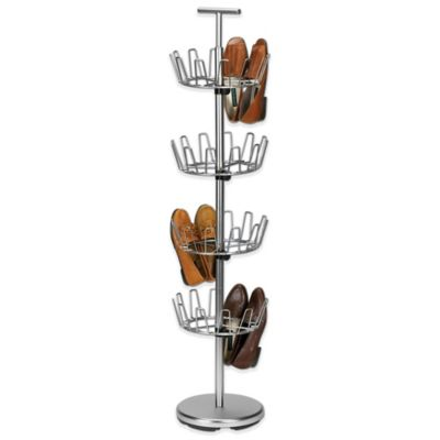 Household Essentials® 4-Tier Revolving Shoe Tree in Satin Nickel