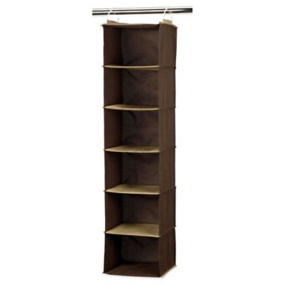 Household Essentials® 6-Shelf Closet Organizer in Coffee