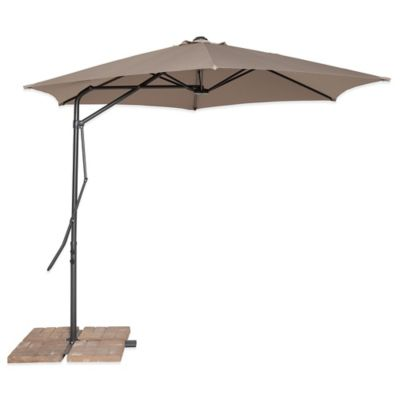 California Sun Shade® 10-Foot Cantilever Round Umbrella in Tan