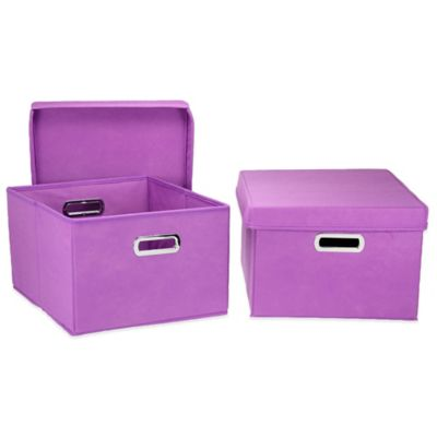 Purple Storage Boxes & Containers