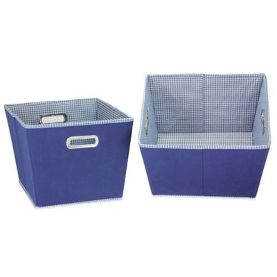 Buy household essentials medium open tapered storage bin for Navy bathroom bin
