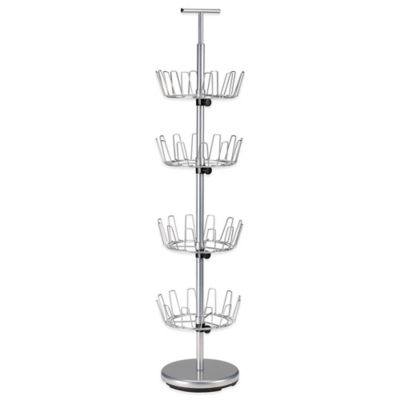 Household Essentials® 4-Tier Revolving Shoe Tree in Silver