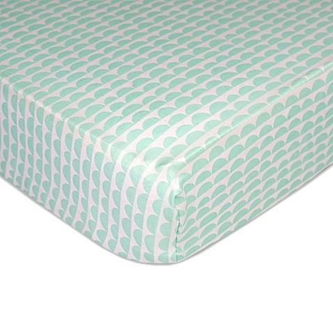 Crib Sheets > Lolli Living™ by Living Textiles Mix & Match Scallop Fitted Crib Sheet in Mint