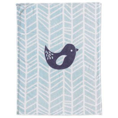 Lolli Living™ by Living Textiles Mix & Match Bird Plush Blanket in Grey