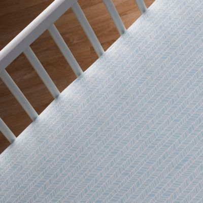 Lolli Living™ by Living Textiles Mix & Match Woods Herringbone Fitted Crib Sheet in Aqua