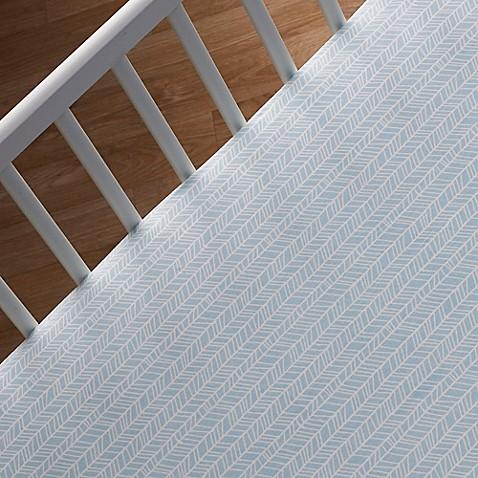 Crib Sheets > Lolli Living™ by Living Textiles Mix & Match Woods Herringbone Fitted Crib Sheet in Aqua