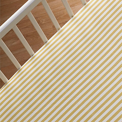 Crib Sheets > Lolli Living™ by Living Textiles Mix & Match Woods Fitted Crib Sheet in Amber Stripe
